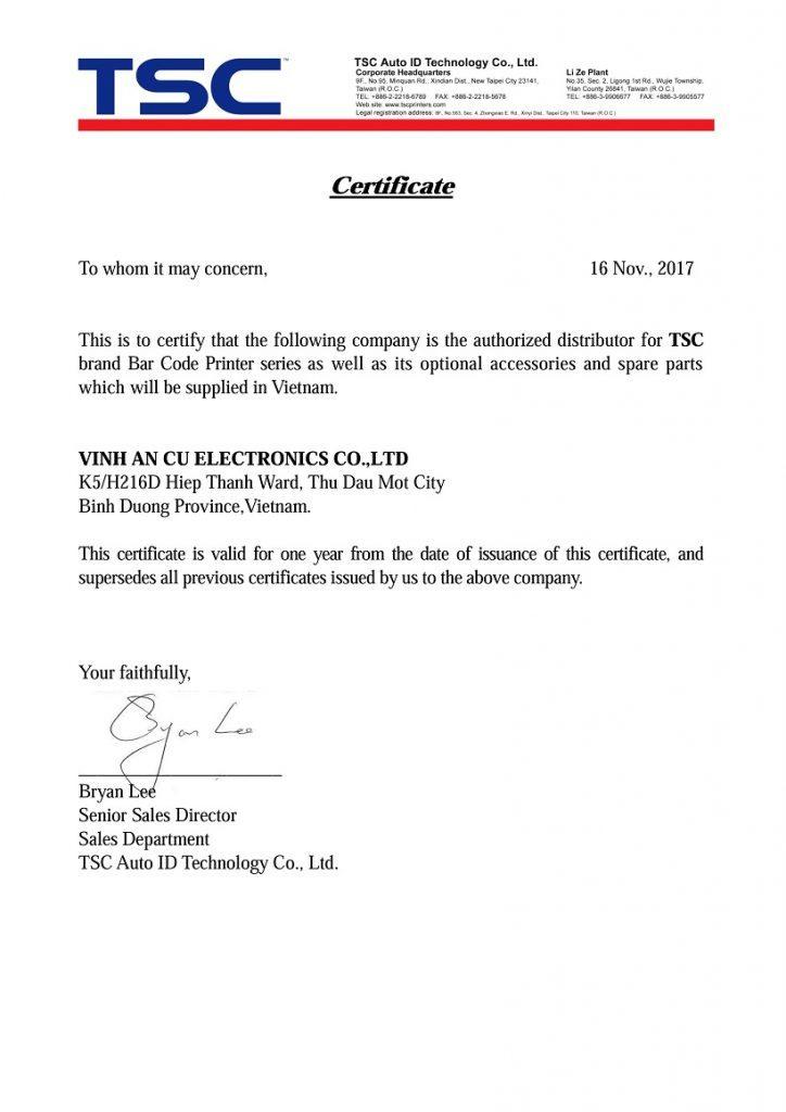 Nhà phân phối chính thức của TSC tại Việt Nam
