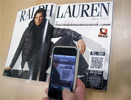 Quảng cáo bằng mã vạch trên tạp chí - Đọc tạp chí bằng mã vạch