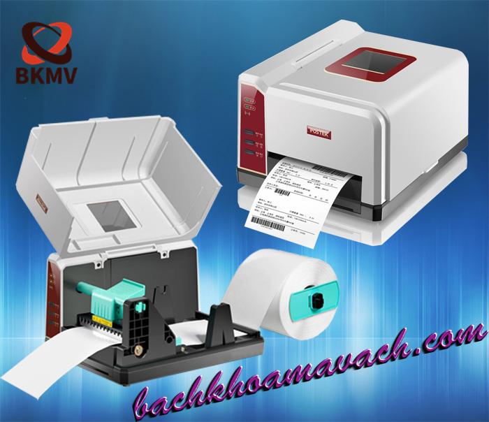 Máy in mã vạch Postek IQ200 chính hãng, Máy in để bàn postek chính hãng, máy in nhiệt postek chính hãng